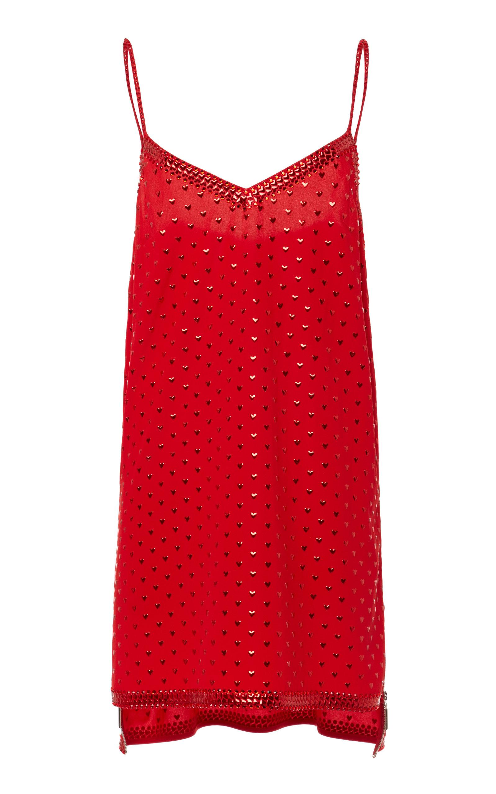 Adam Selman Mini Slip Dress In Red