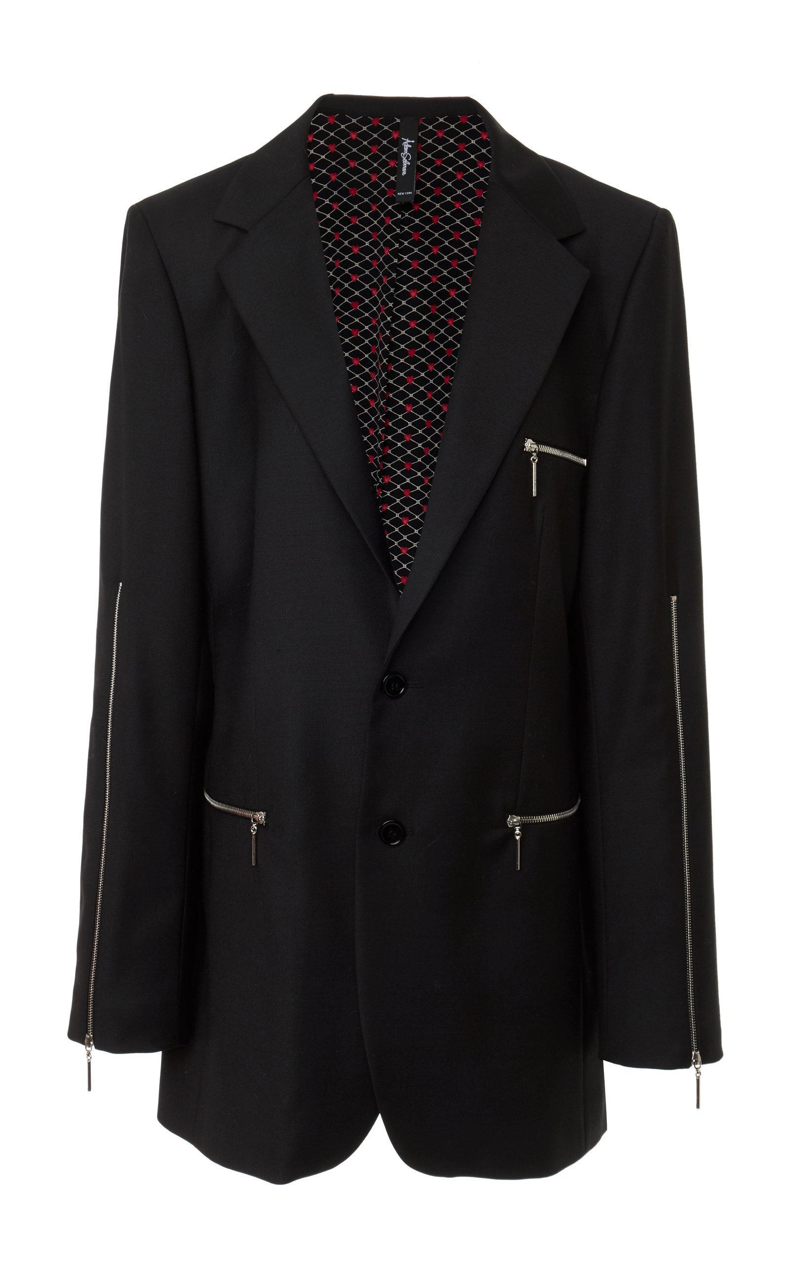 Adam Selman Oversized Blazer In Black