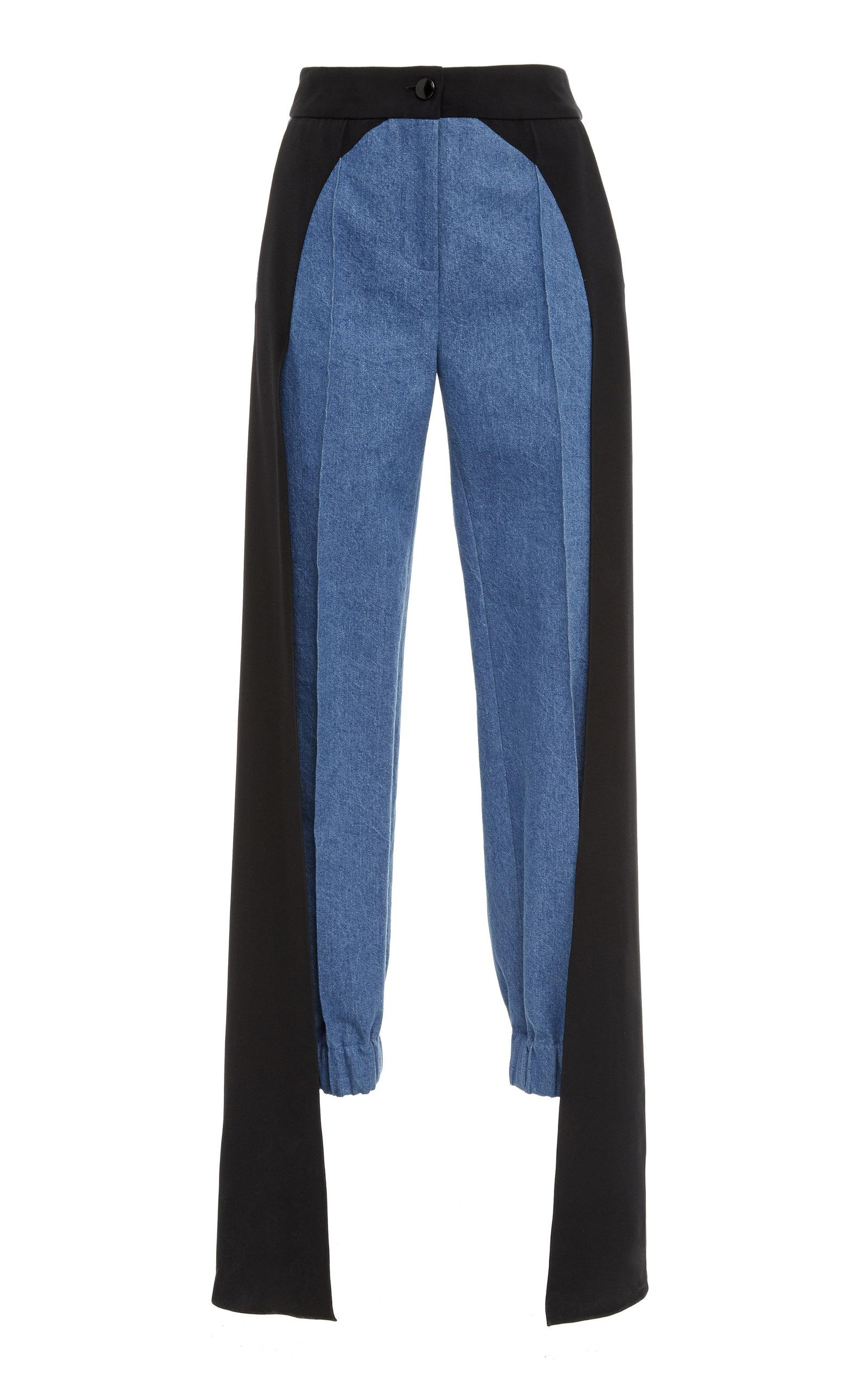 Hellessy Jagger Cotton Pants In Blue