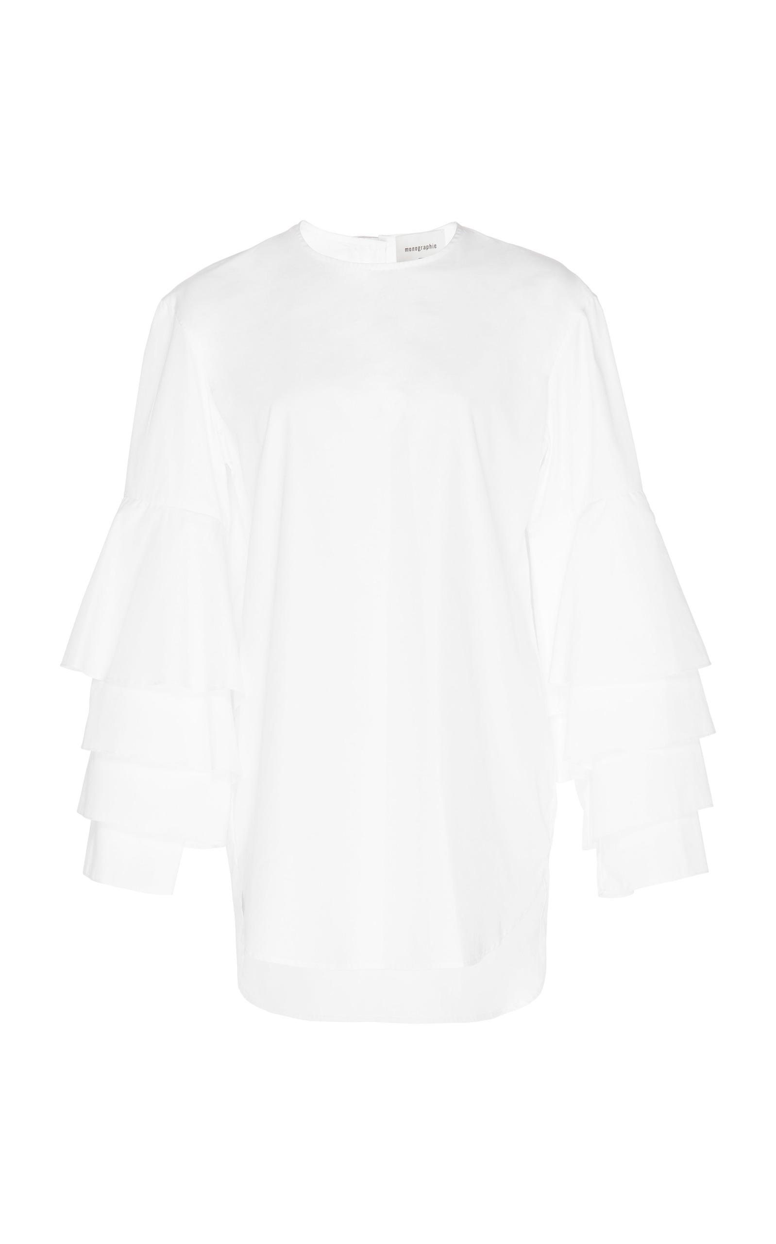 Monographie Edition Multi Ruffle Long Sleeve In White
