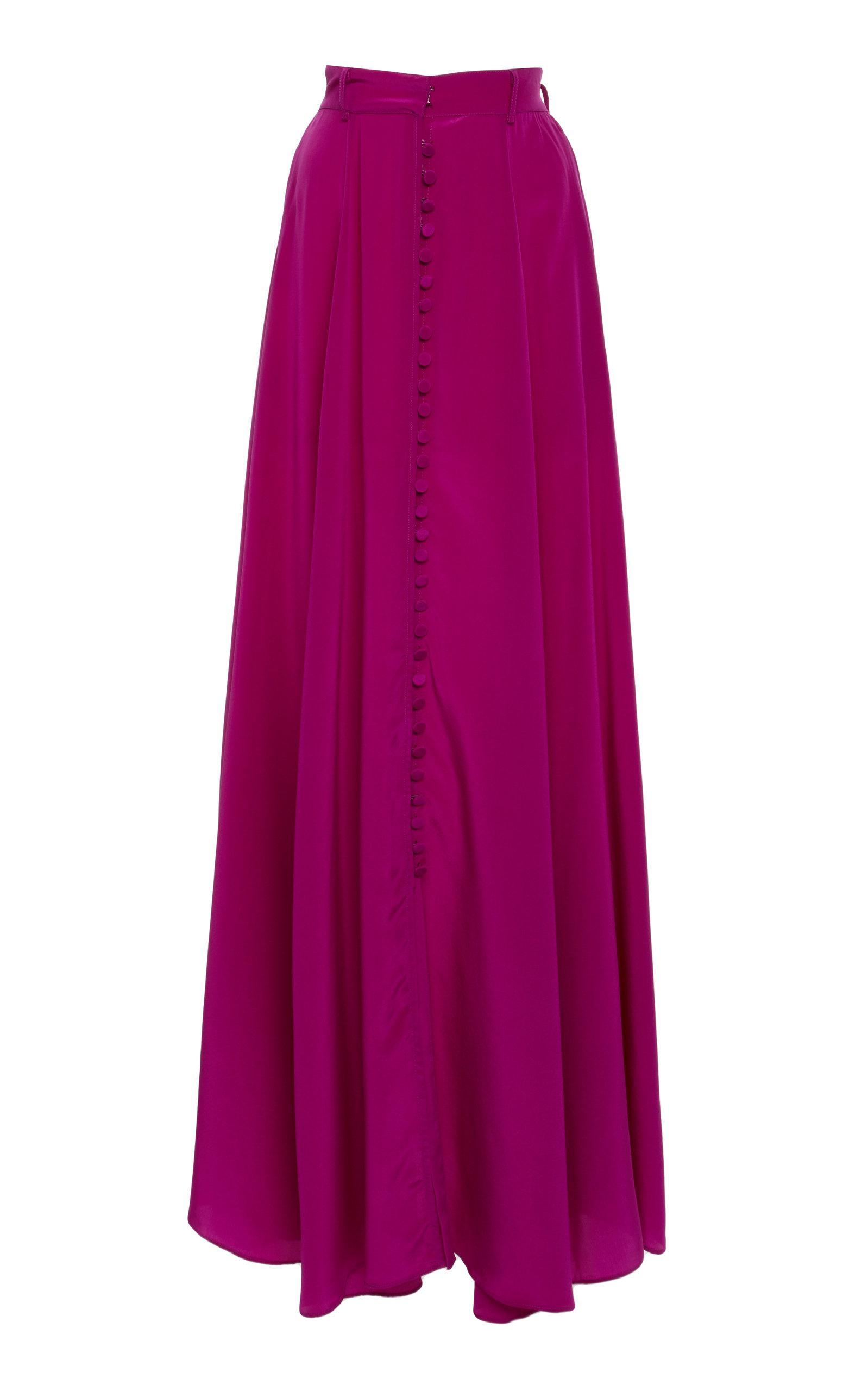 Adam Selman Long Skirt In Pink