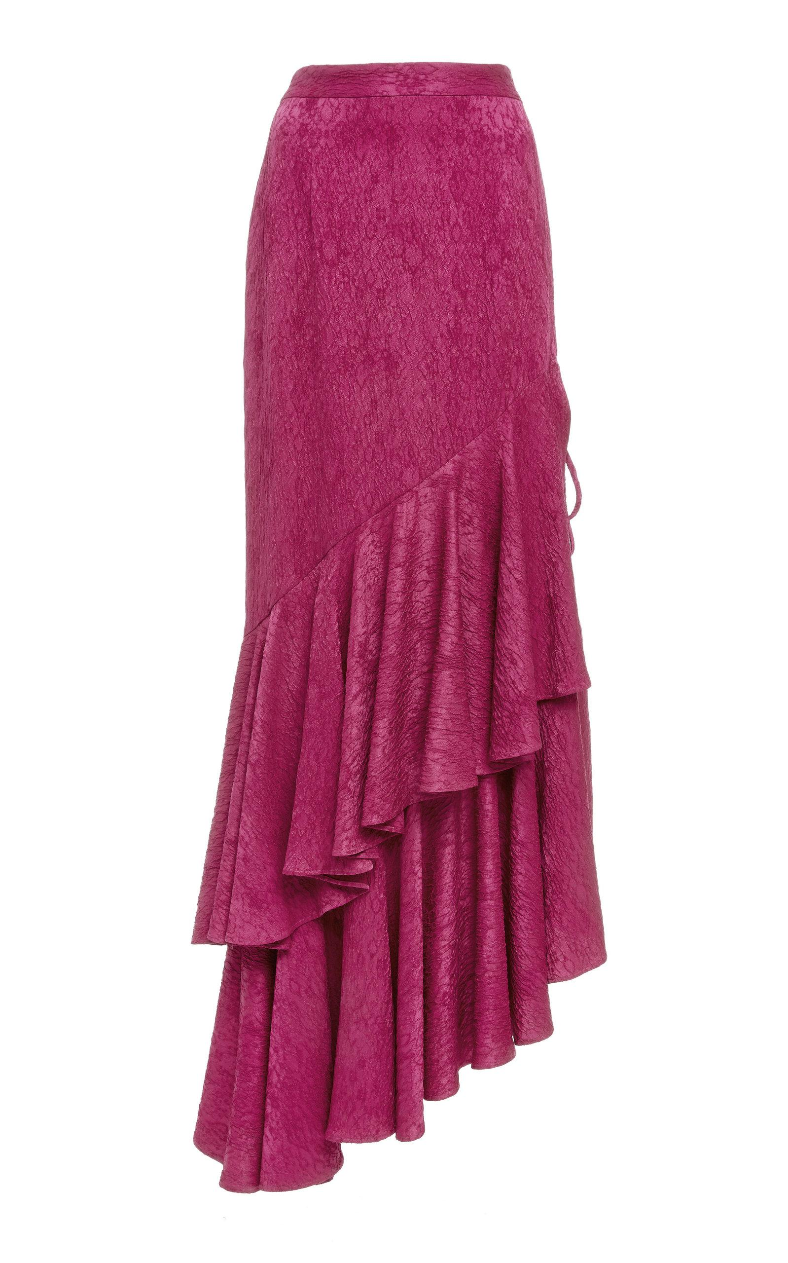 Hellessy Poppy Fuchsia Maxi Skirt In Pink