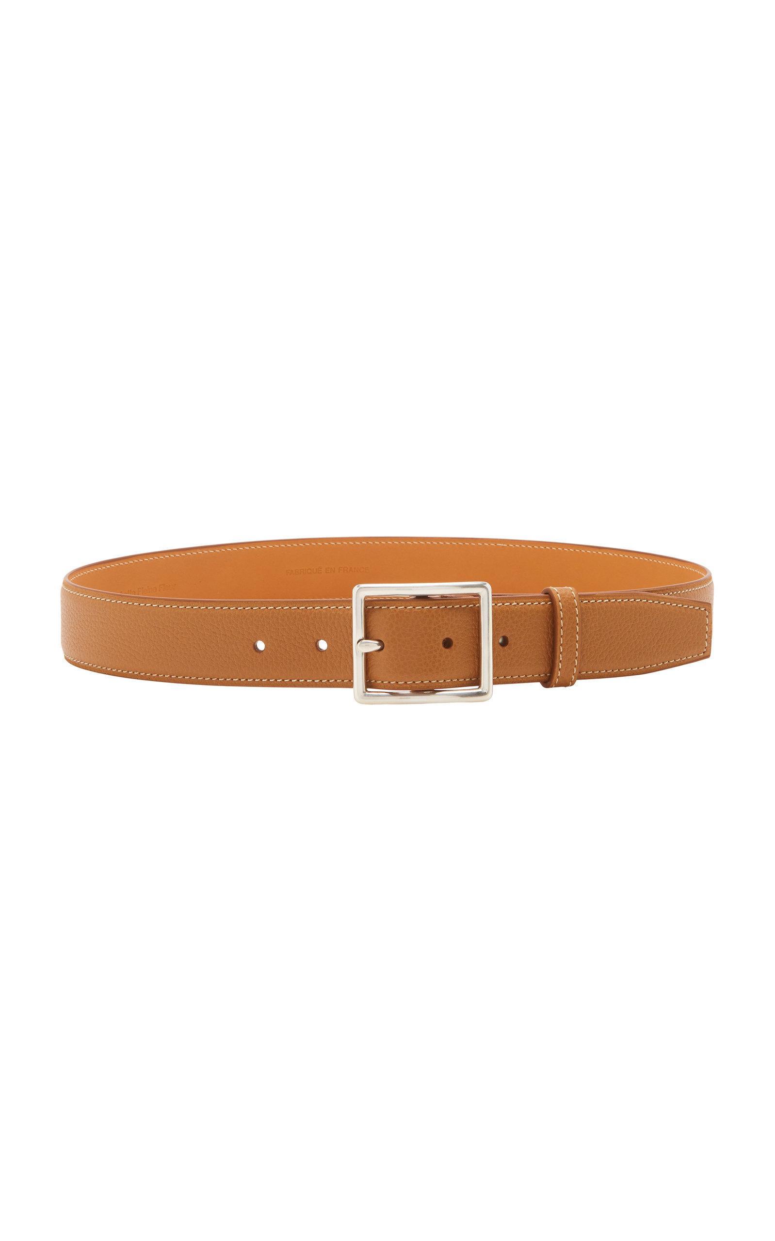 Maison Vaincourt Exclusive Leather Waist Belt In Brown