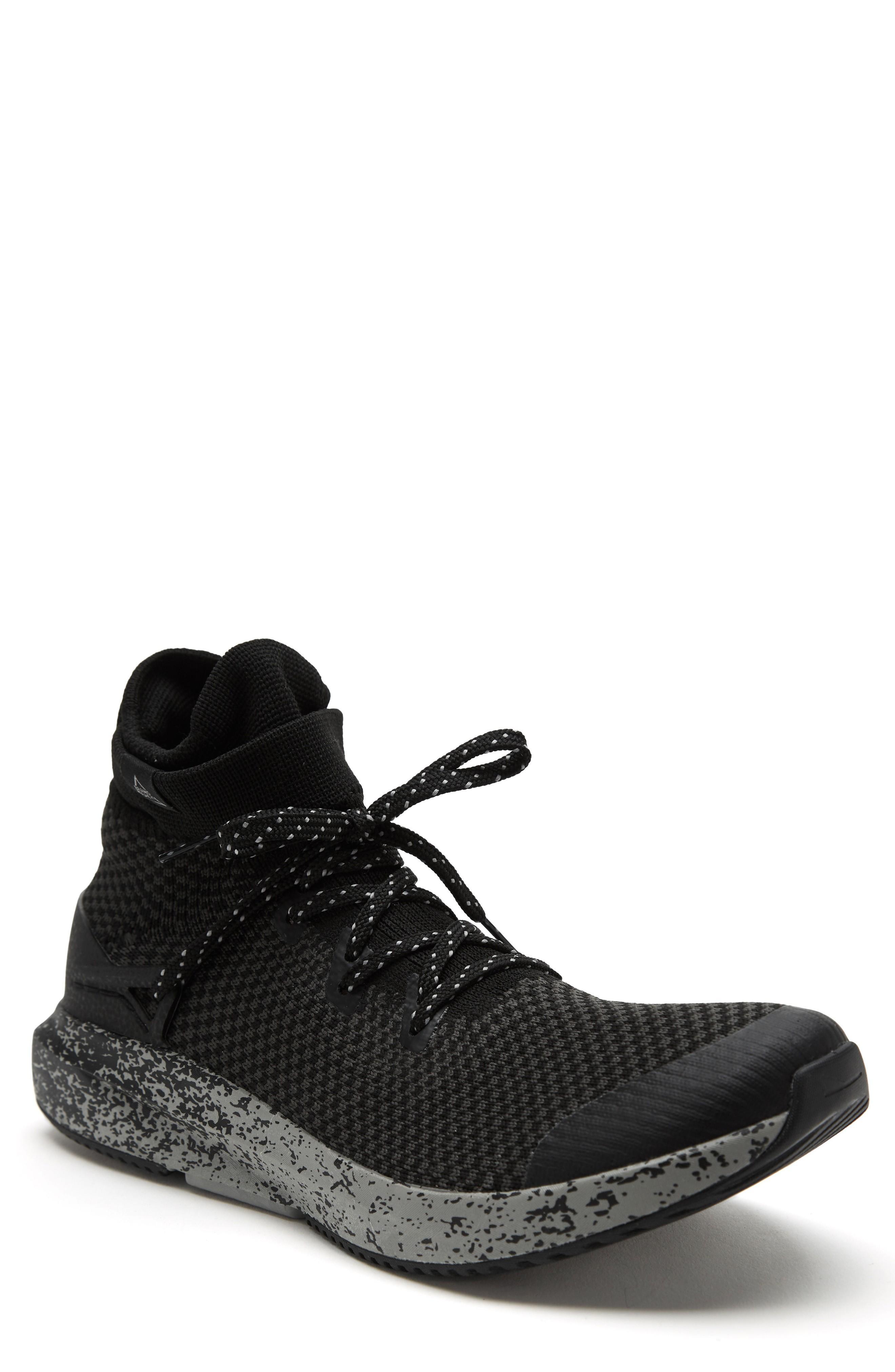 Brandblack Kaze Knit Sneaker Boot In Black