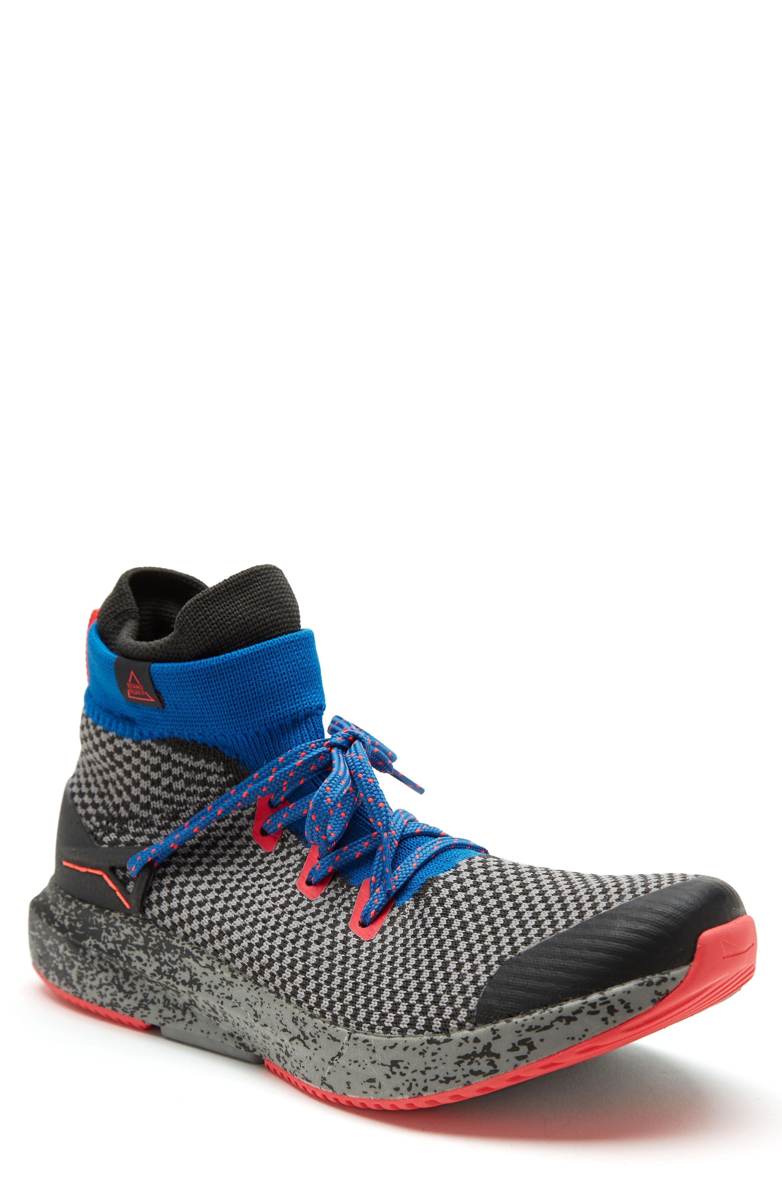 Brandblack Kaze Knit Sneaker Boot In Gray/ Multi