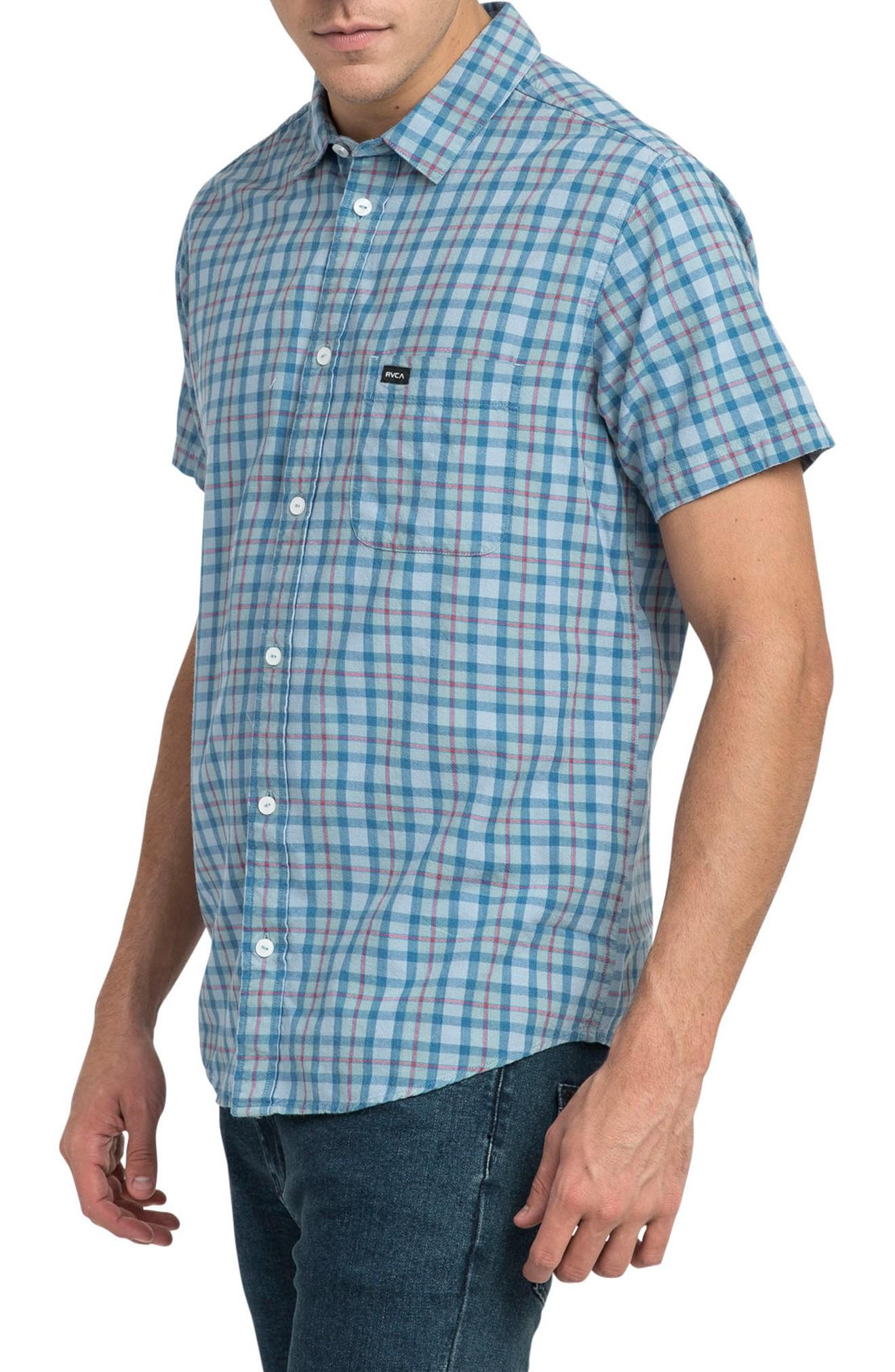 Rvca That'll Do Plaid Shirt In Baked Apple