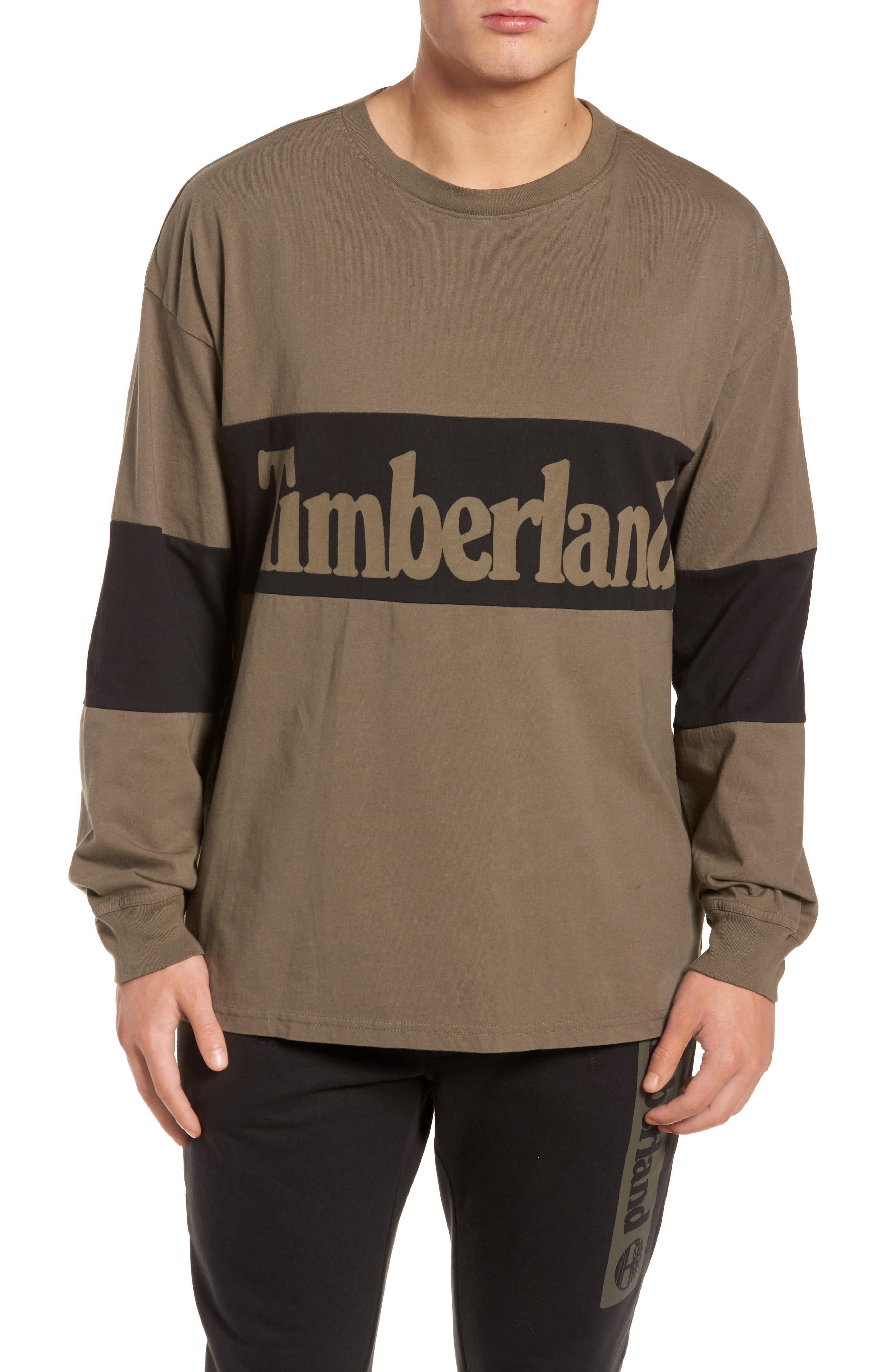 Timberland Logo Graphic T-shirt In Bungee Cord
