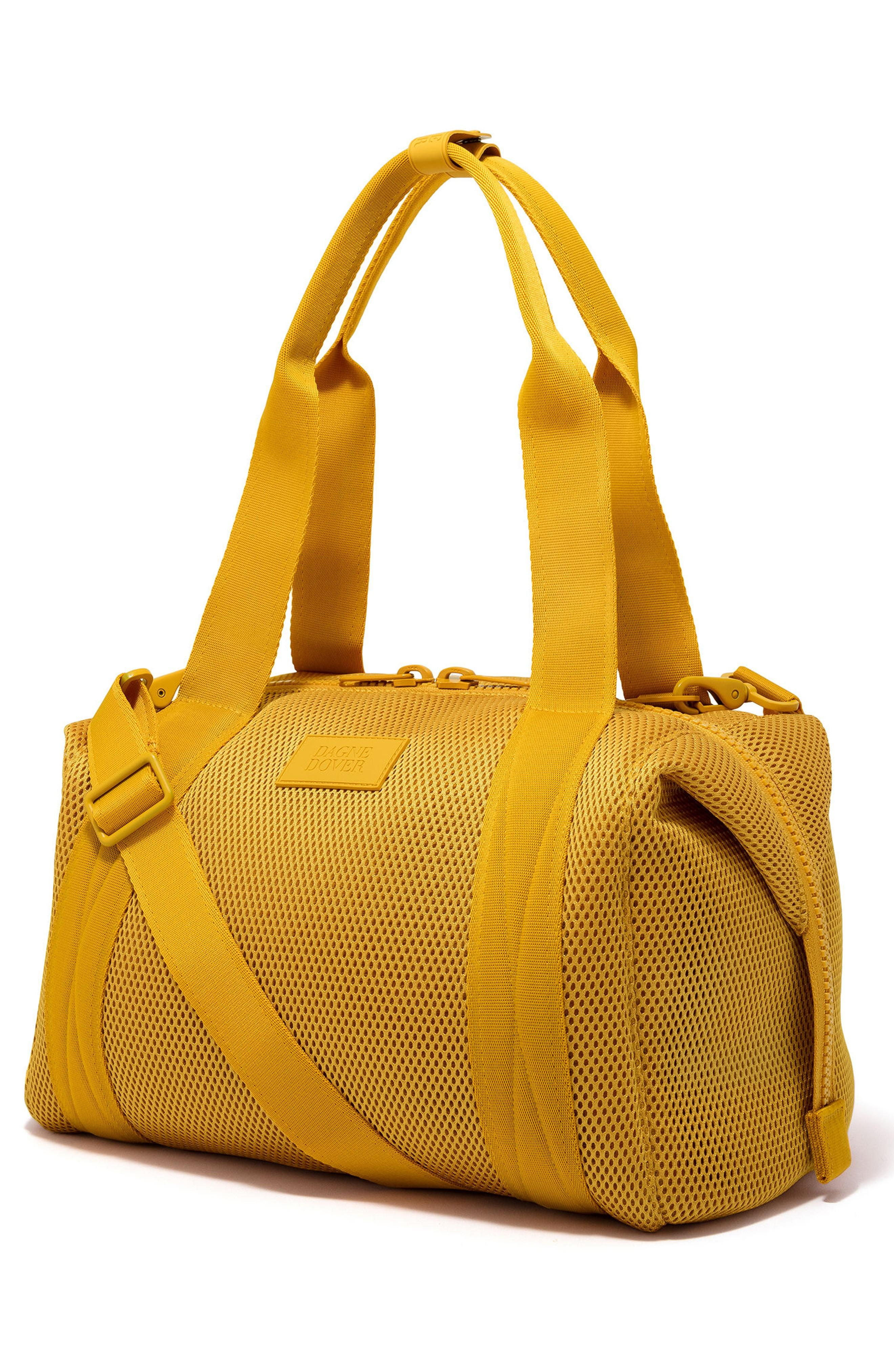 Dagne Dover 365 Medium Landon Neoprene Carryall Duffel Bag - Yellow In Sol Air Mesh