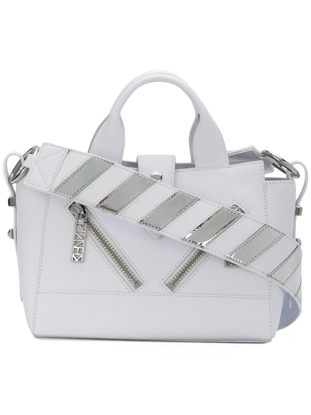 Kenzo Mini Kalifornia Leather Satchel - White