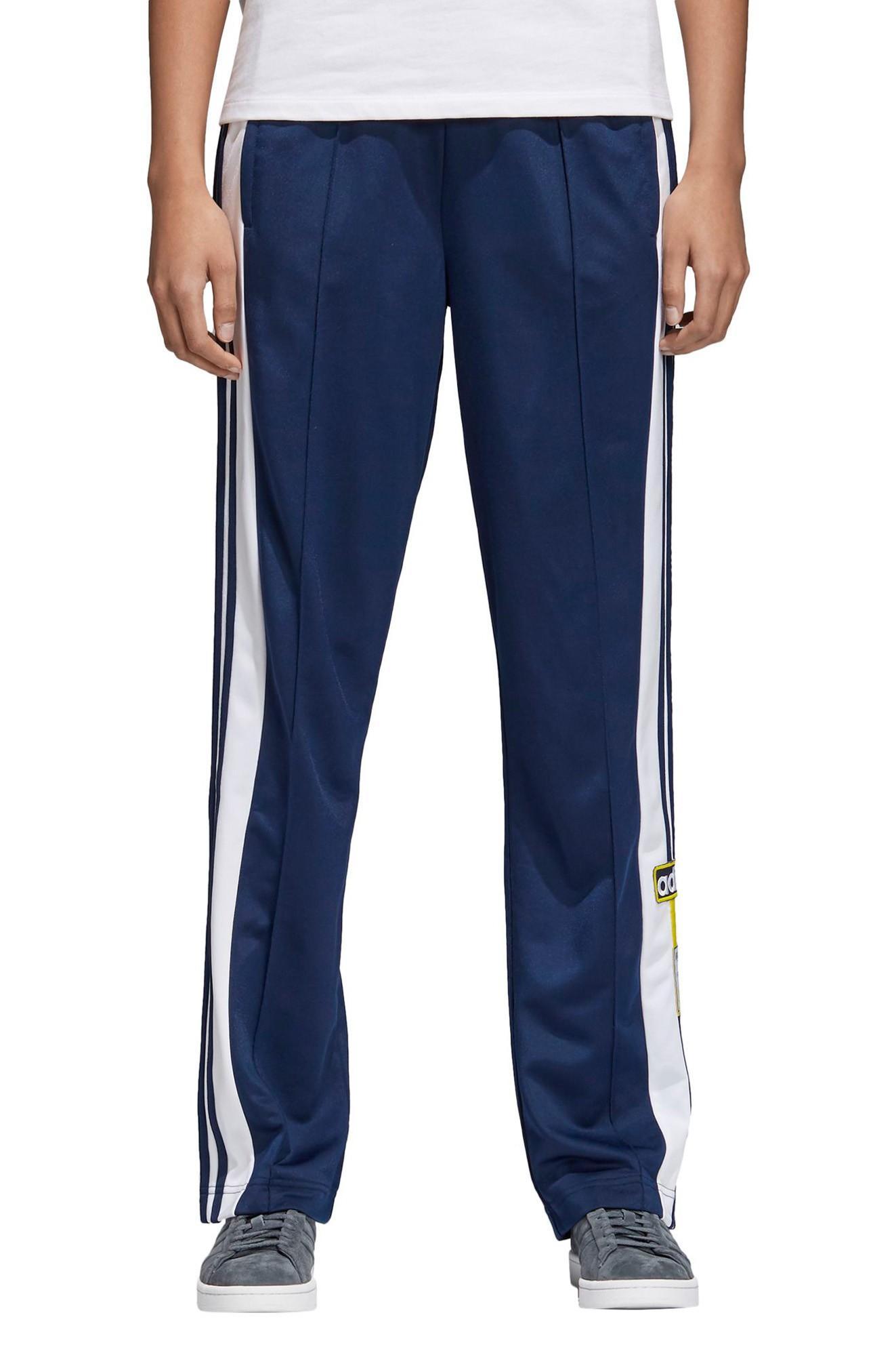 Adidas Originals Stripe Track Pants In Collegiate Navy / White