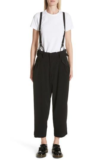 Y's Pants With Suspenders In Black