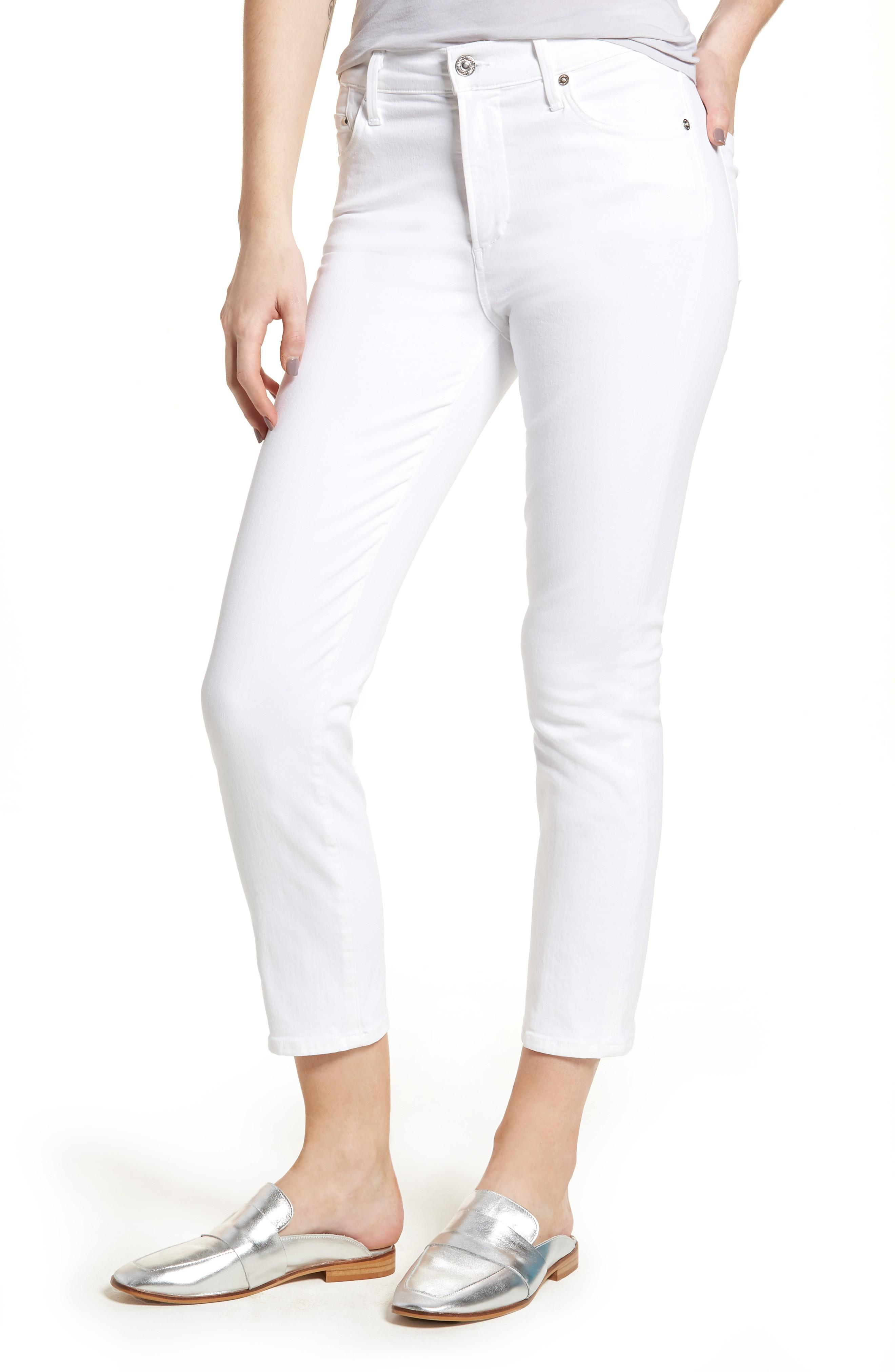 Citizens Of Humanity Cara Ankle Cigarette Jeans In Sculpt White
