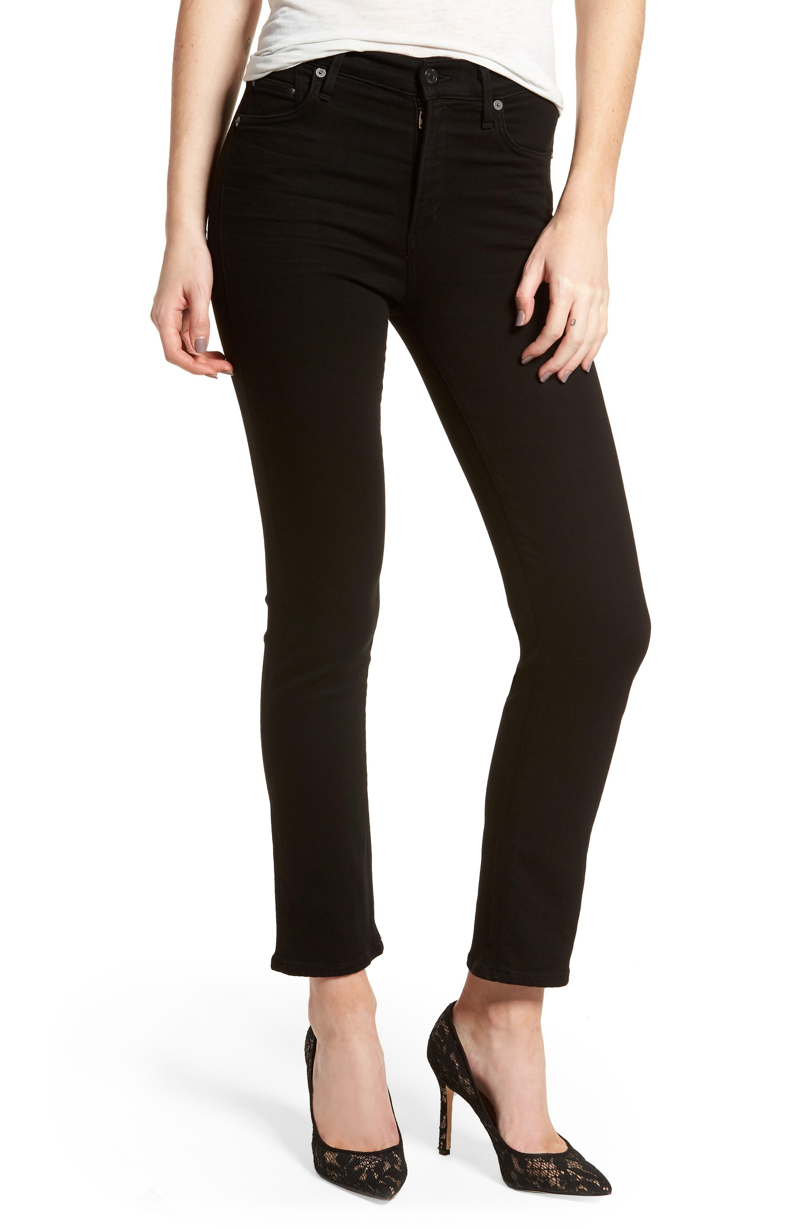 Citizens Of Humanity Cara Ankle Cigarette Jeans In All Black