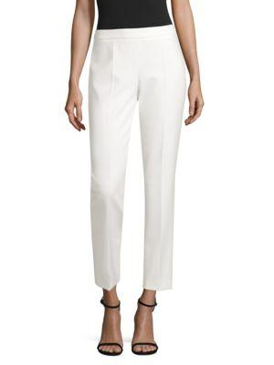Hugo Boss Tiluna Stretch Suiting Ankle Trousers In White