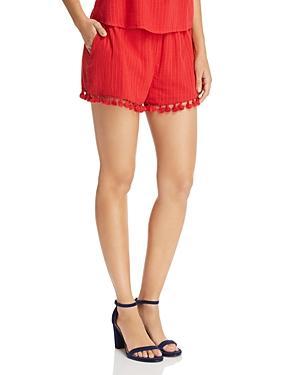 Moon River Tassel-hem Shorts - 100% Exclusive In Red