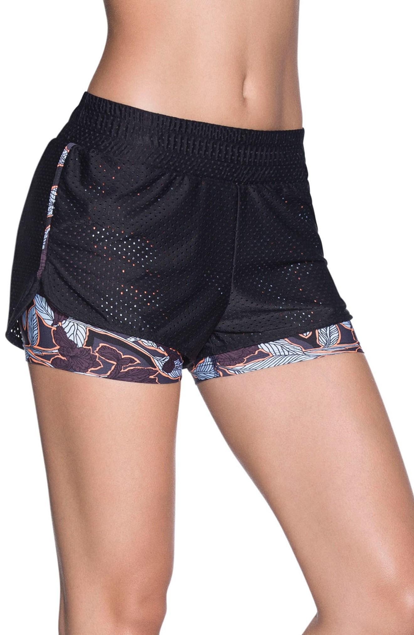 Maaji Uphill Two-layer Shorts In Black