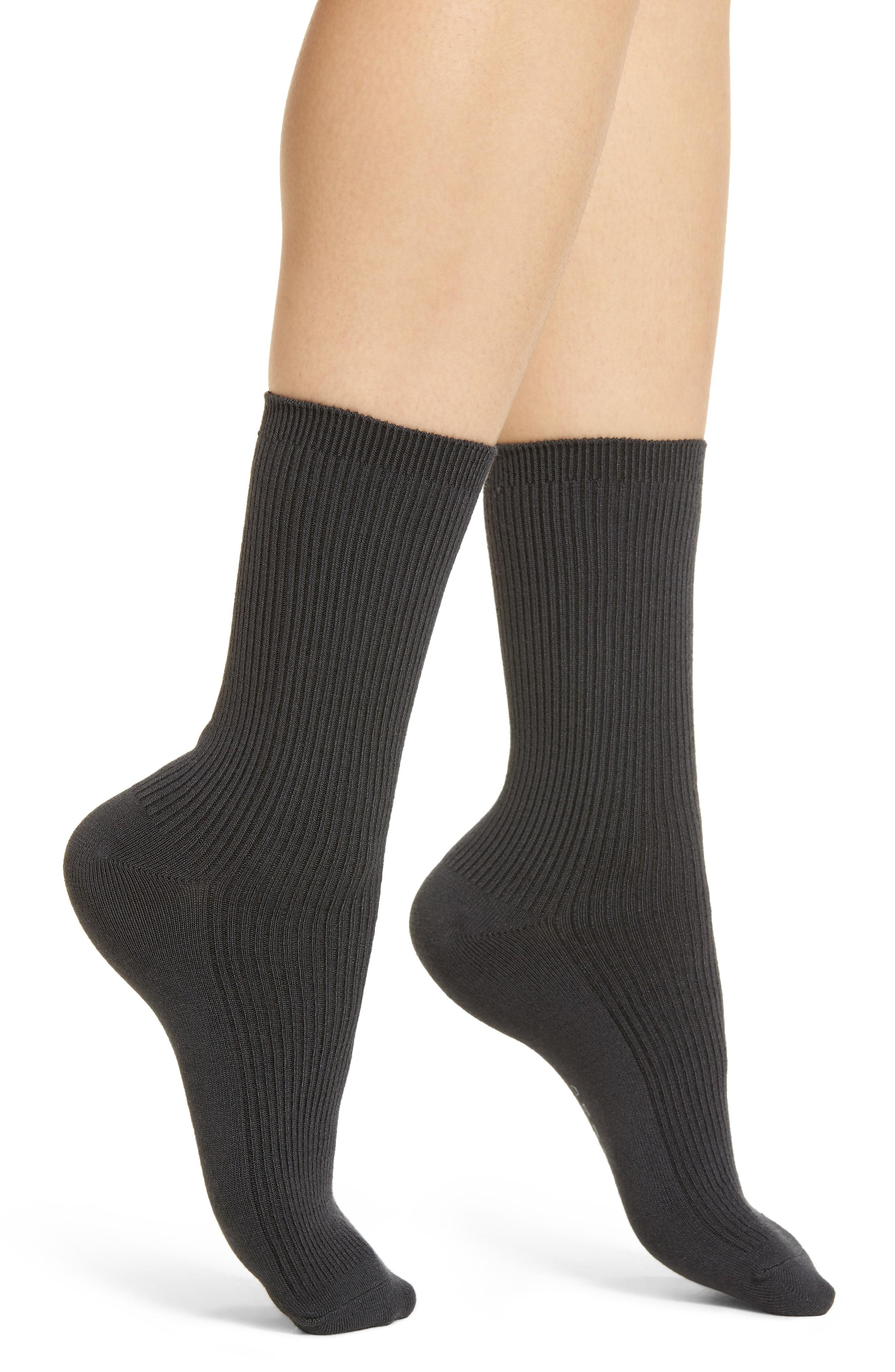 317a7d7b1 Richer Poorer Nightingale Crew Socks In Charcoal