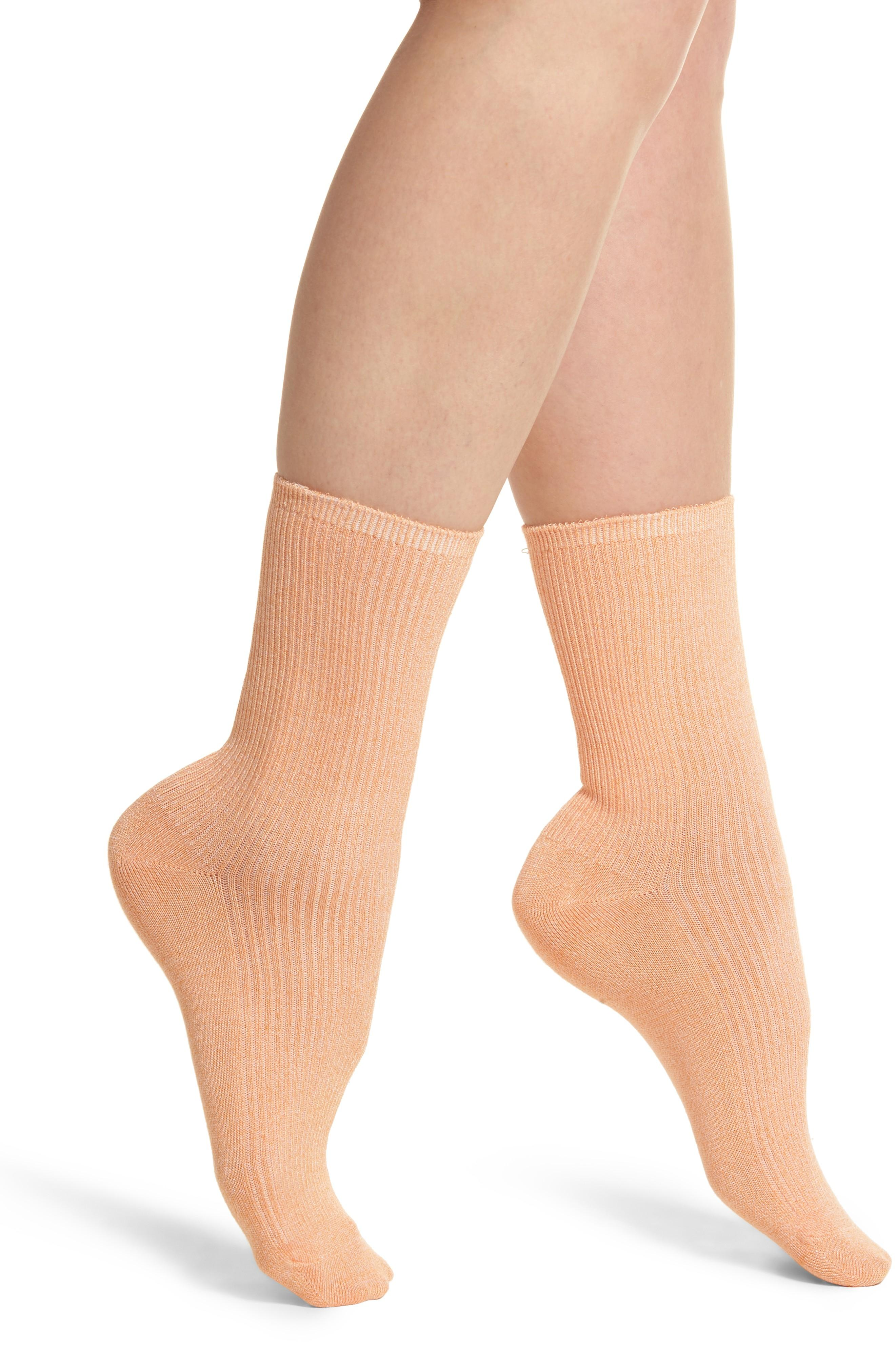 Richer Poorer Nightingale Crew Socks In Pink