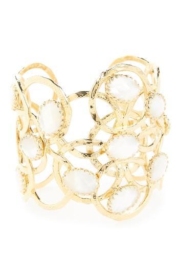 Gas Bijoux Olympie Cuff Bracelet In White