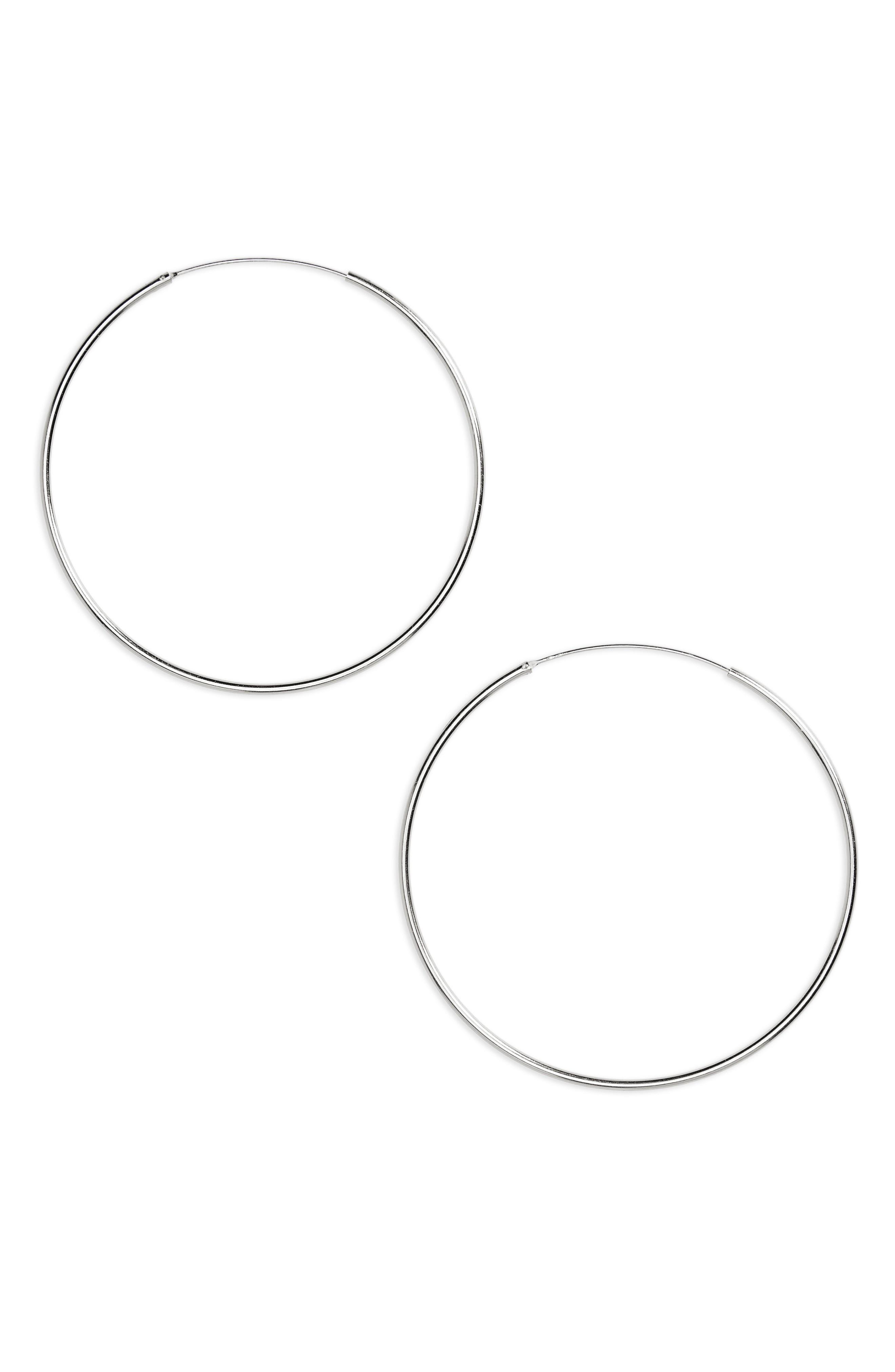 Argento Vivo Tube Hoop Earrings In Silver