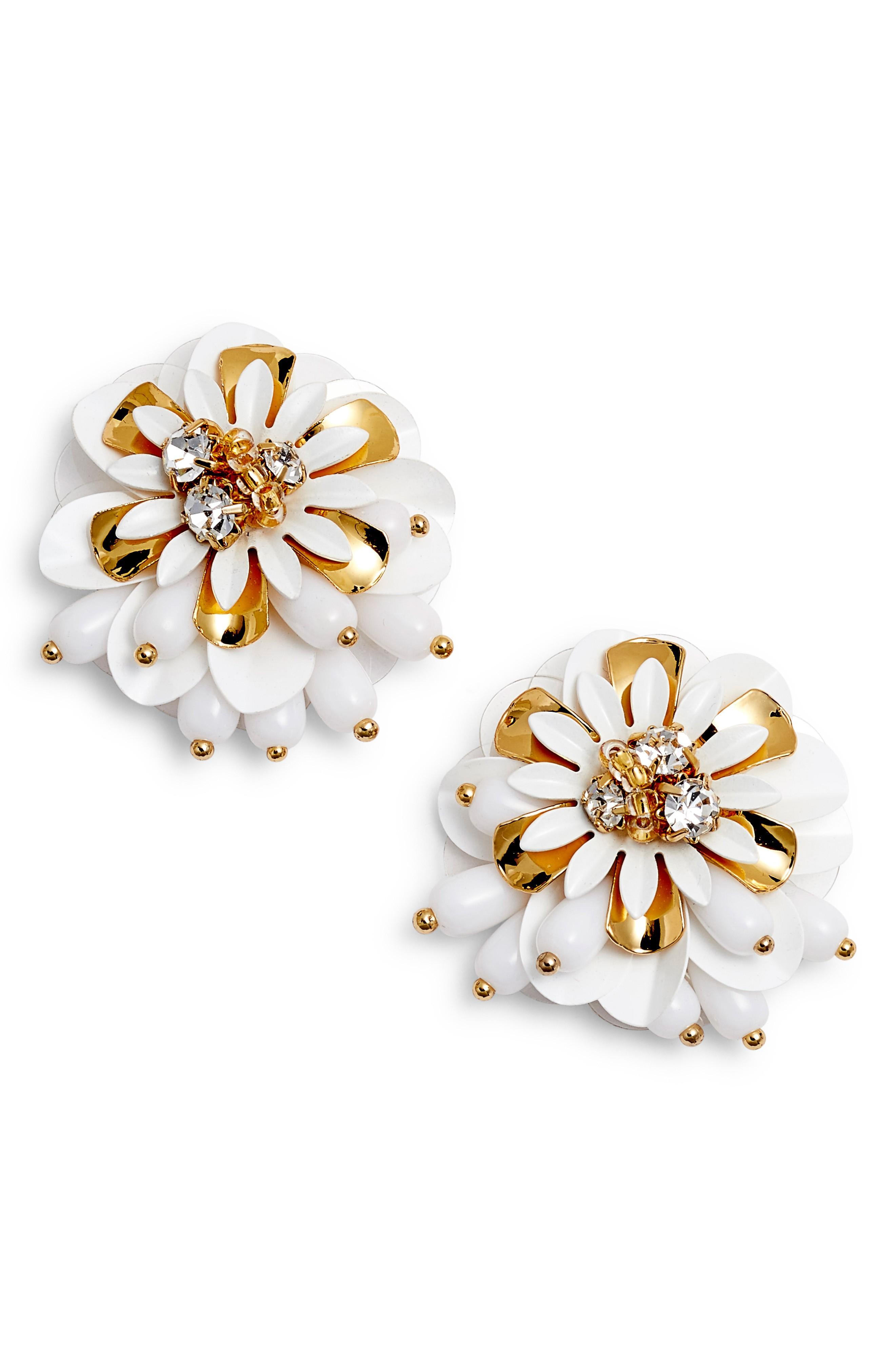 Kate Spade Vibrant Life Statement Earrings In White Multi