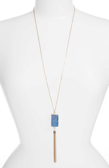 Elise M. Carmela Drusy Pendant Necklace In Emerald