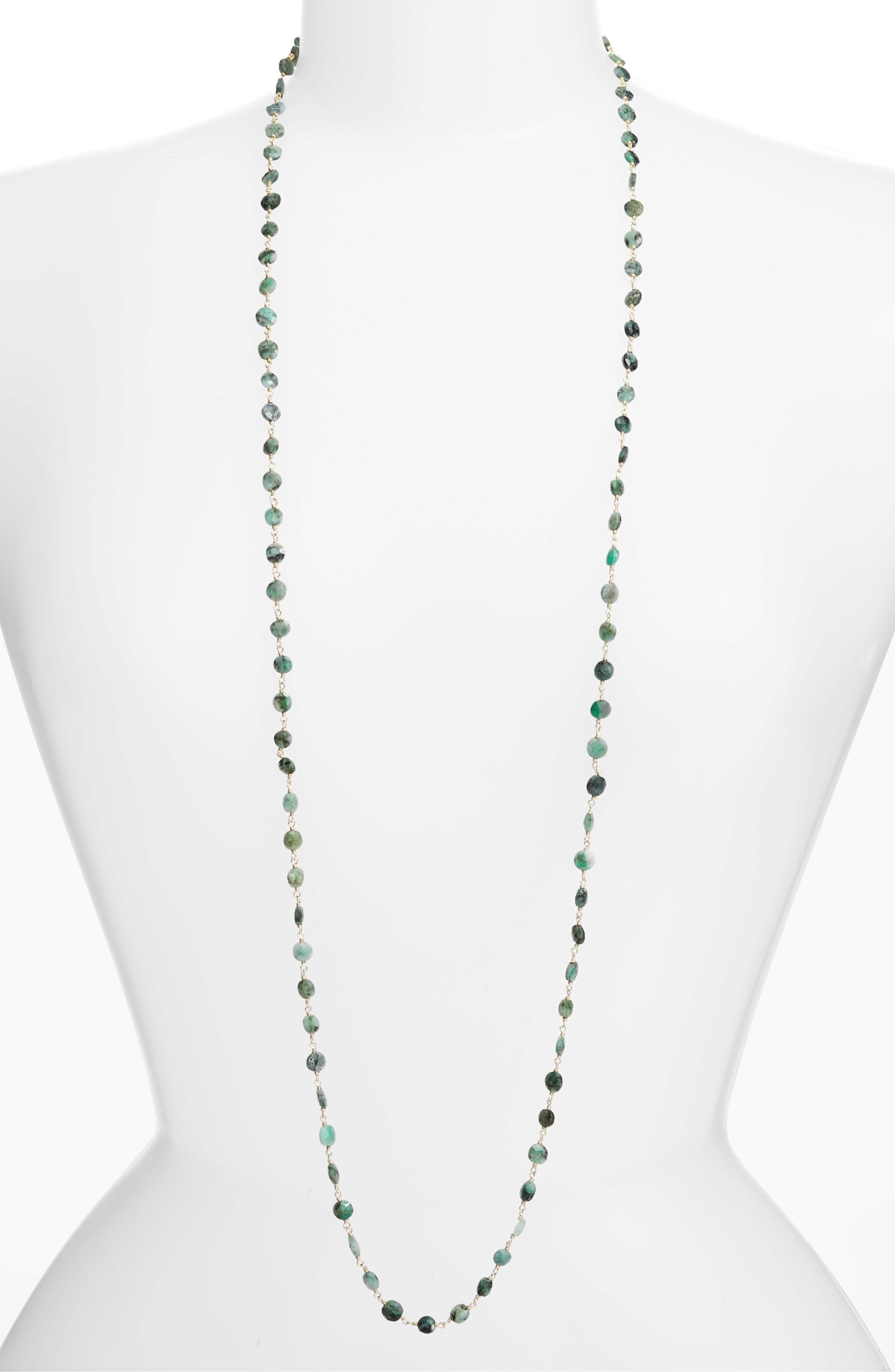 Ela Rae Diana Coin Necklace In Emerald