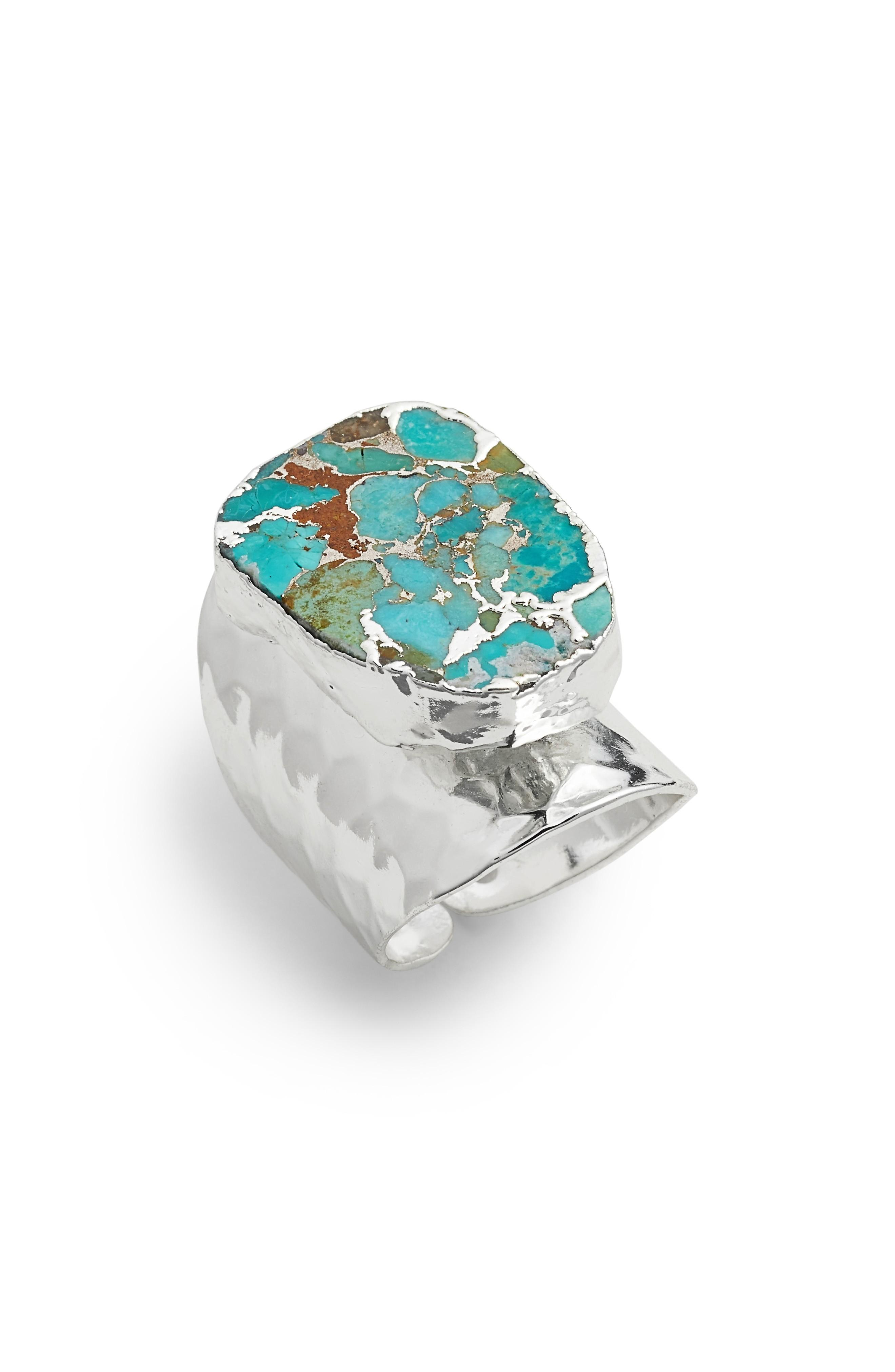 Elise M. Bonitas Hammered Cuff Ring In Silver