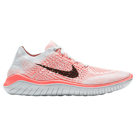 Nike Women's Free Rn Flyknit 2018 Running Shoes, Pink - Size 7.0