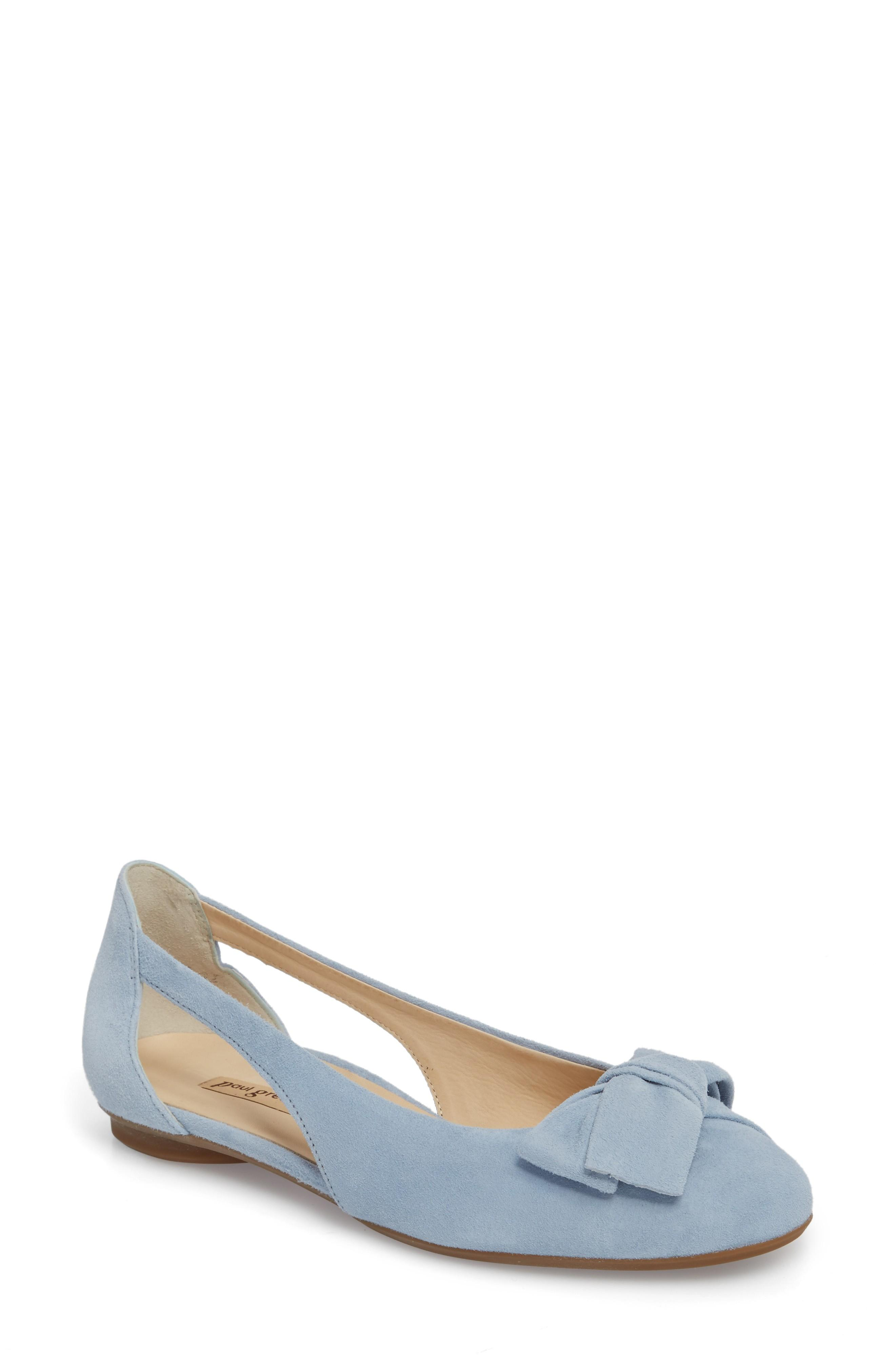 Paul Green Pacific Flat In Blue/ Blue Lago Suede