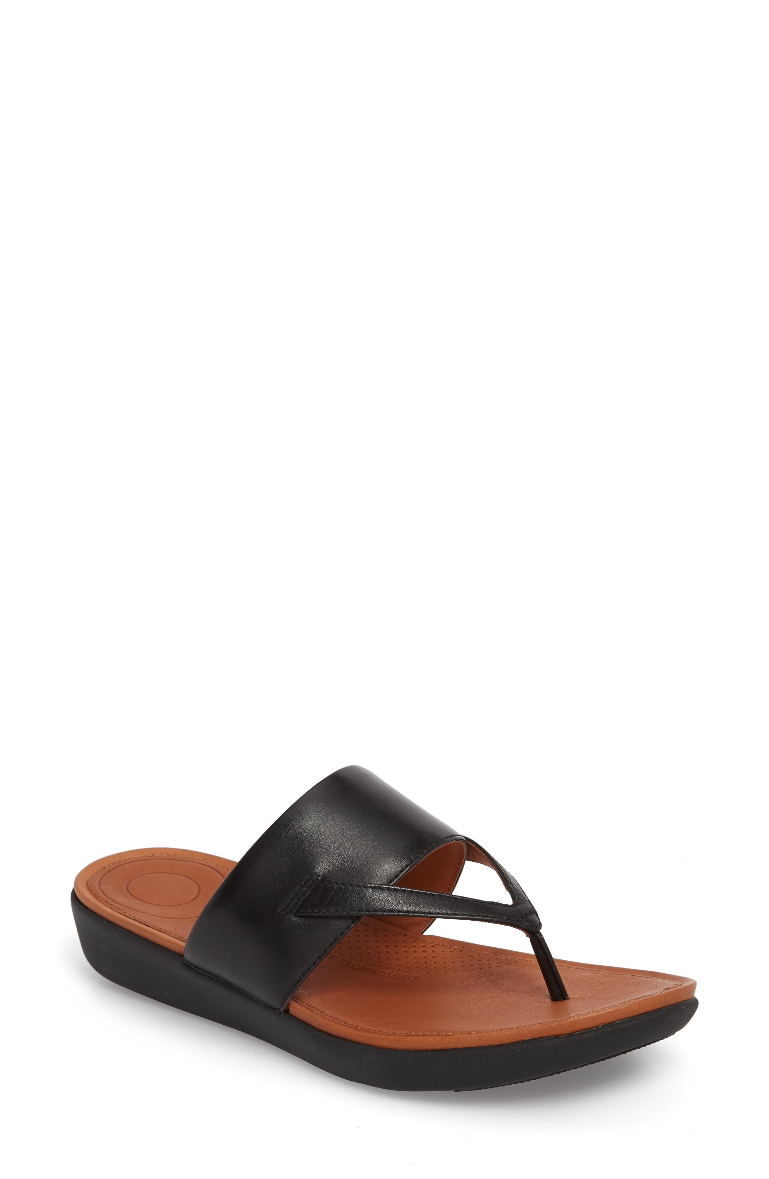 Fitflop Delta Sandal In Black Leather