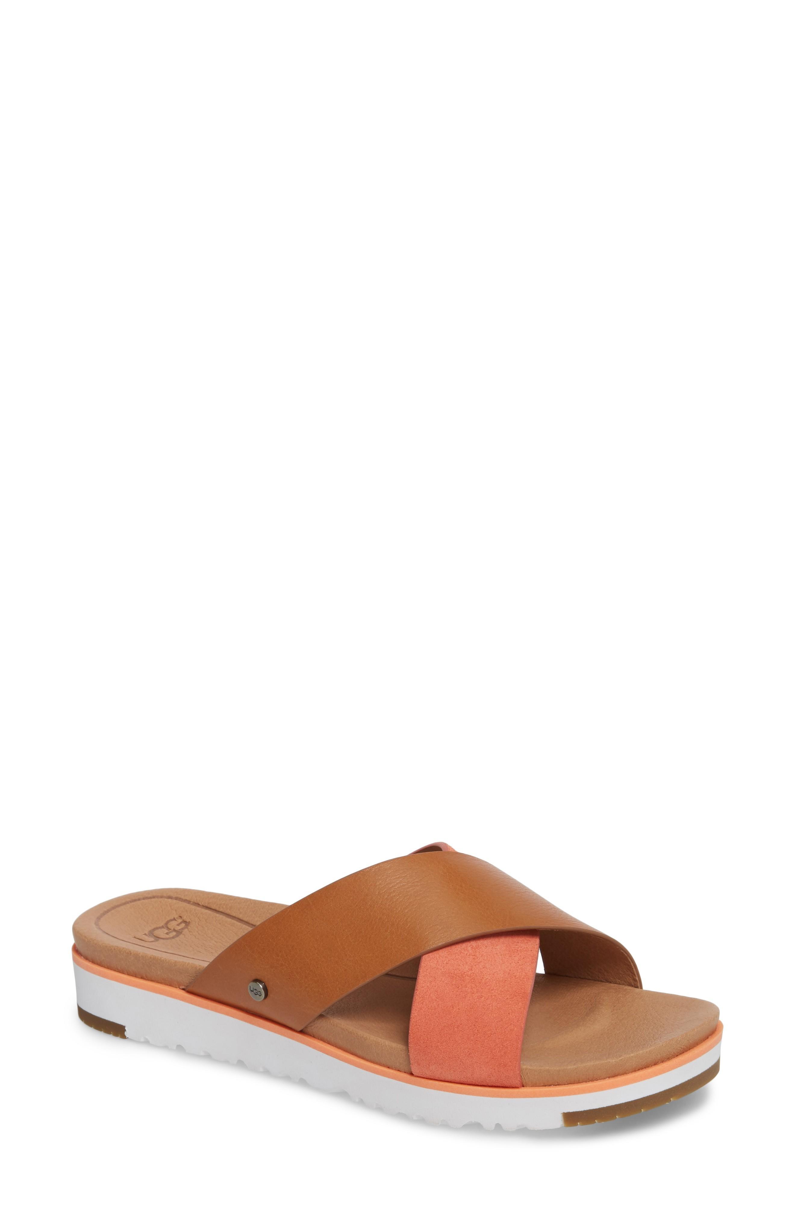 954f0c1fc57 Ugg 'Kari' Sandal in Fusion Coral Leather