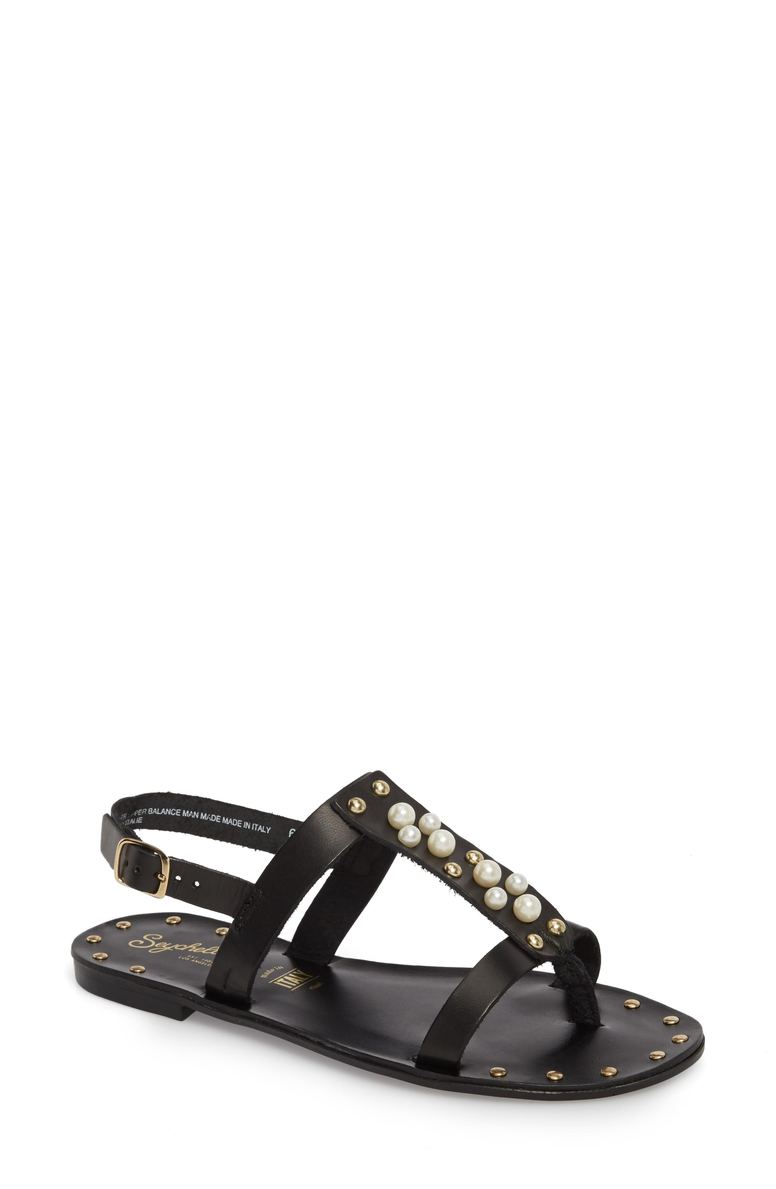 Seychelles Day Of Rest Sandal In Black Leather
