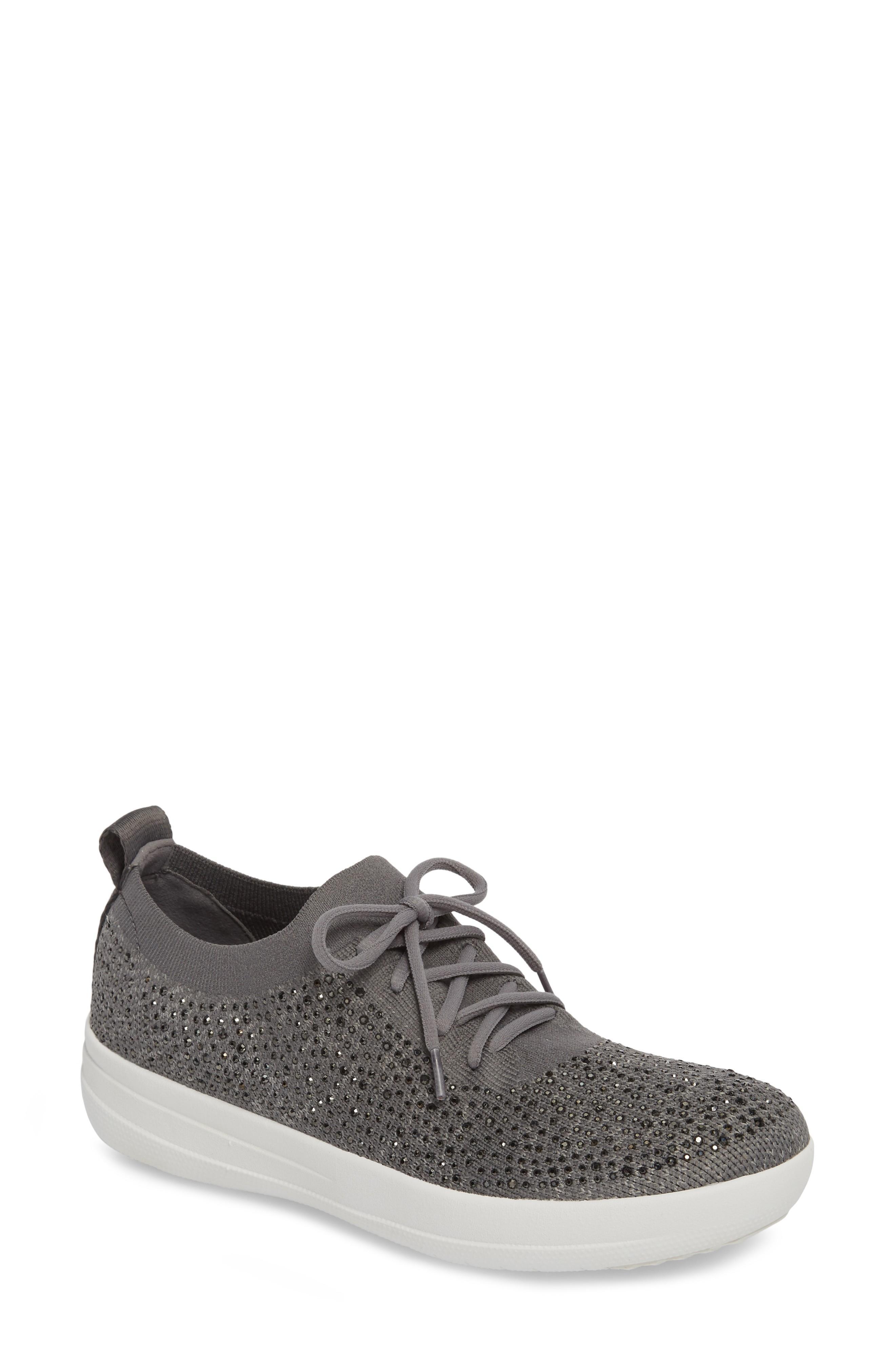 b681c90bb90e Fitflop Uberknit(Tm) F-Sporty Sneaker In Charcoal  Dusty Grey