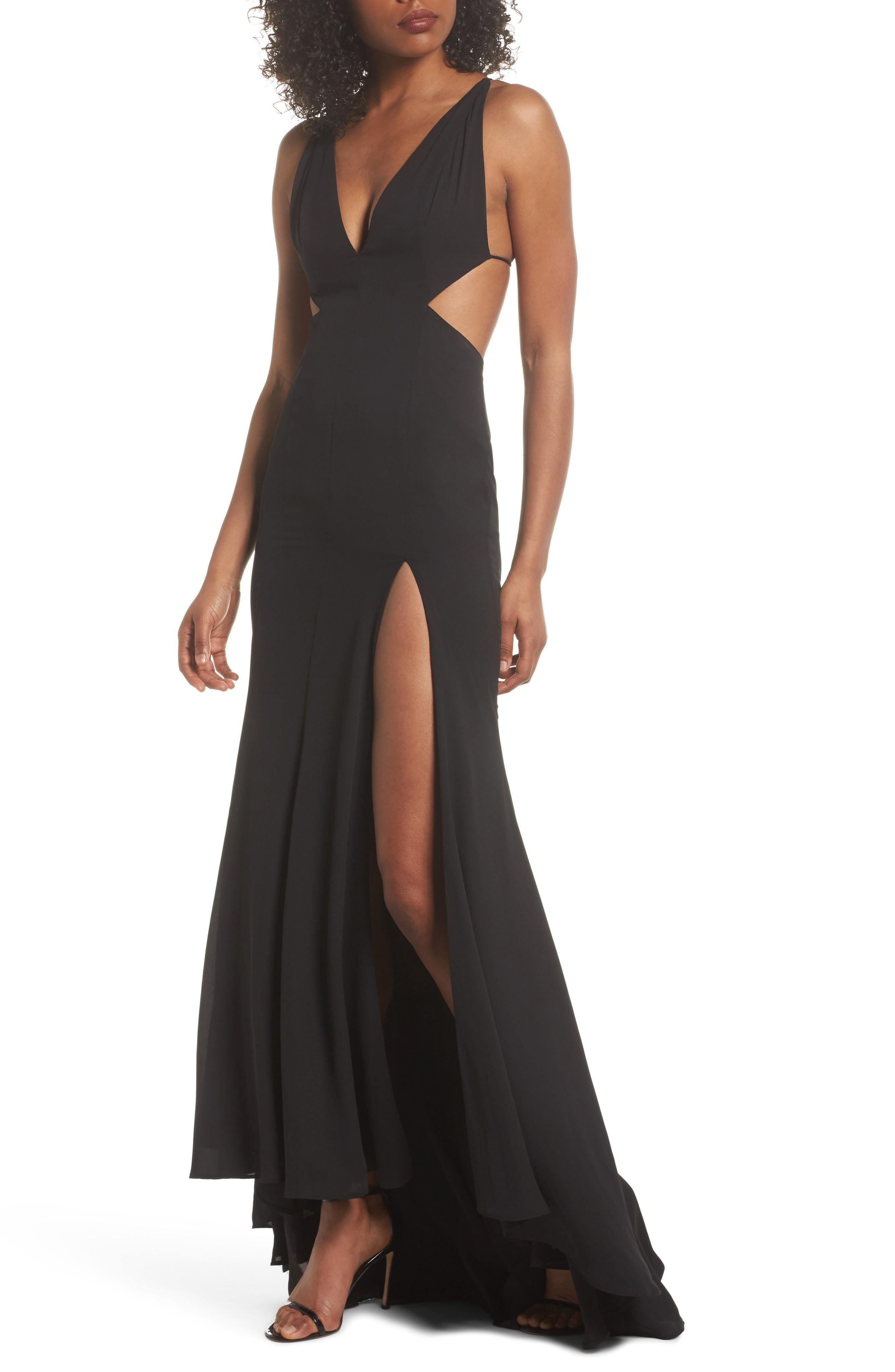 Fame And Partners Nikita Gown In Black