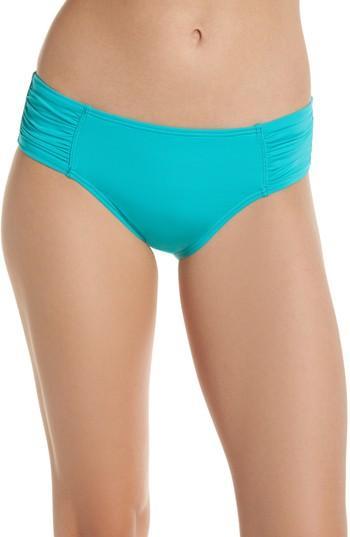 Tommy Bahama 'pearl' High Waist Bikini Bottoms In Ming Jade