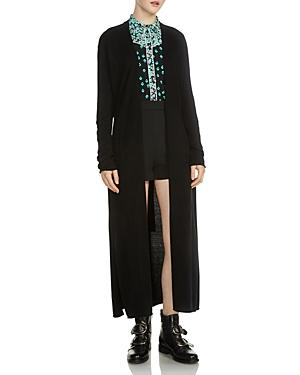 Maje Marina Wool And Cashmere-blend Cardigan In Black
