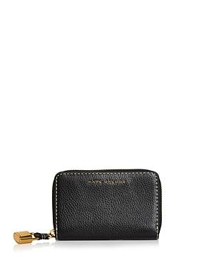 Marc Jacobs The Grind Small Standard Leather Wallet In Black/gold