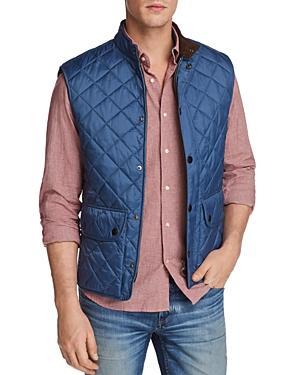 Barbour Lowerdale Two-tone Vest In Blue Steel