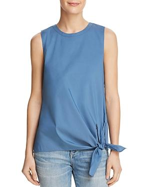 Dylan Gray Side-tie Top In Blue Lagoon
