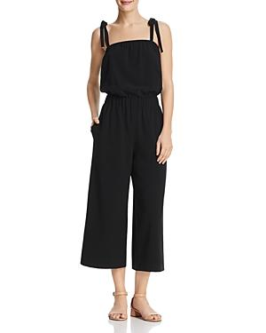 Dylan Gray Cropped Wide-leg Jumpsuit In Black
