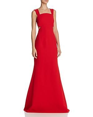 Jill Stuart Side-cutout Gown In Poppy Red