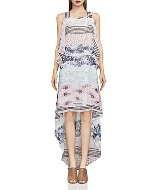Bcbgmaxazria Aaric Floral Print High/low Dress In Off White/combo