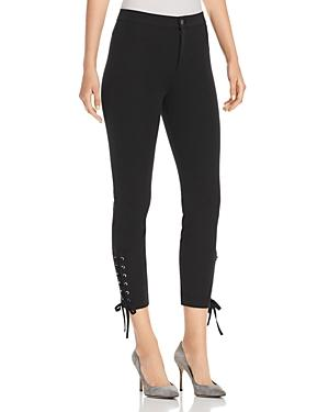 LyssÉ Lace-up Ankle Pants In Black
