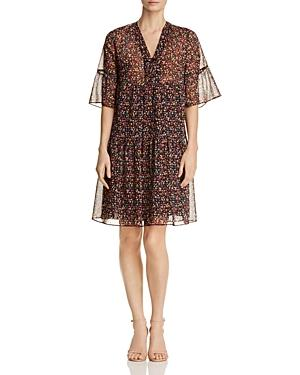 Gerard Darel Douce Micro Floral Print Dress - 100% Exclusive In Black