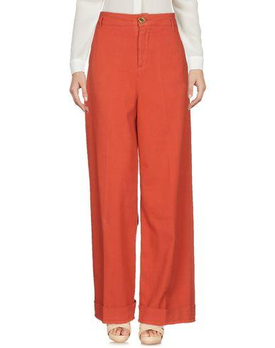 Manila Grace Casual Pants In Red