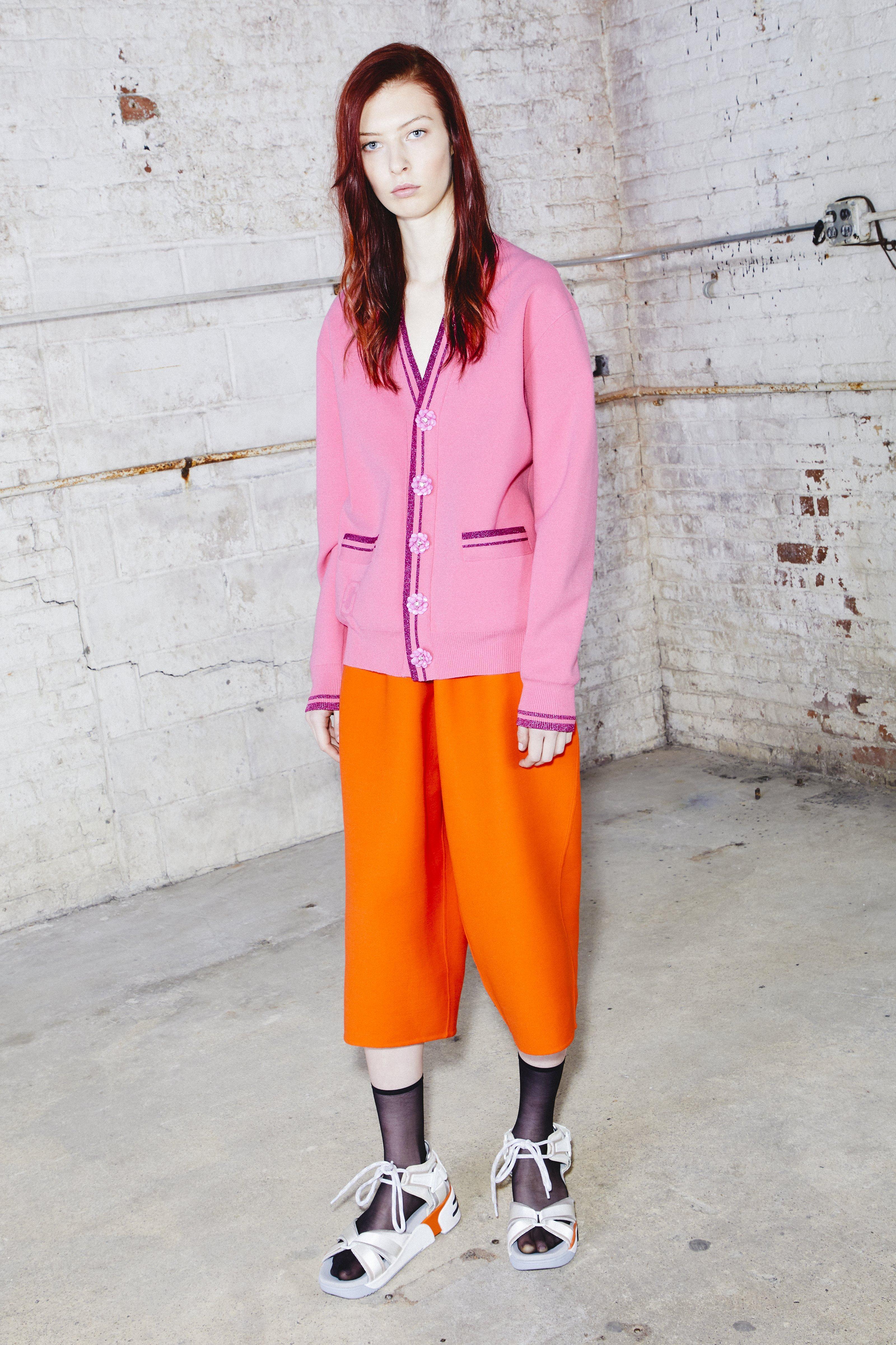 Marc Jacobs Stripe Cardigan In Pink