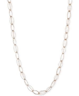 Anne Klein Fancy-link Collar Necklace In Gold