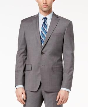 Dkny Closeout!  Men's Modern-fit Stretch Neat Suit Jacket In Gray
