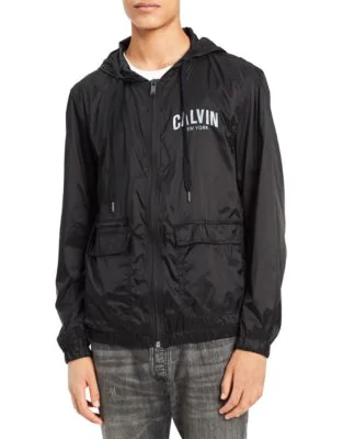 Calvin Klein Jeans Est.1978 Team Ck Windbreaker Jacket In Black